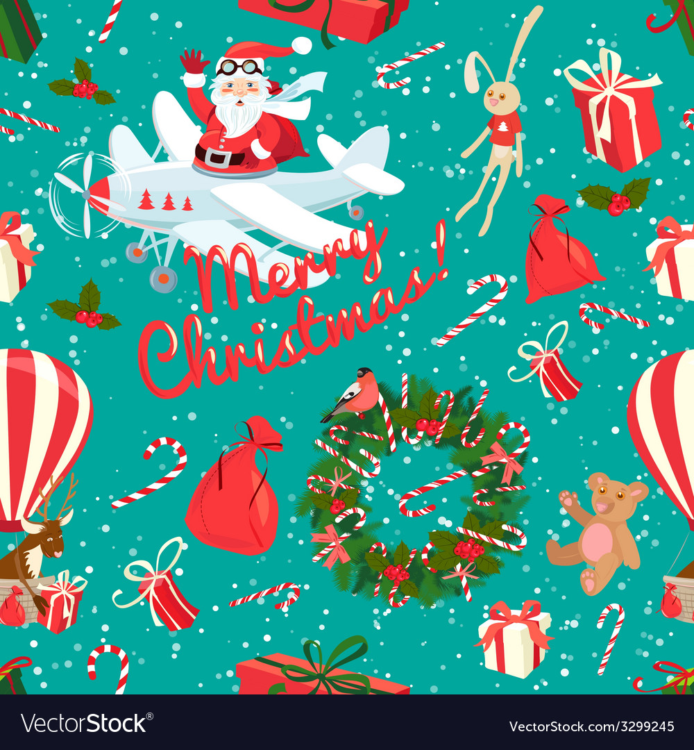 Festive christmas and new year seamless pattern in vector | Price: 1 Credit (USD $1)