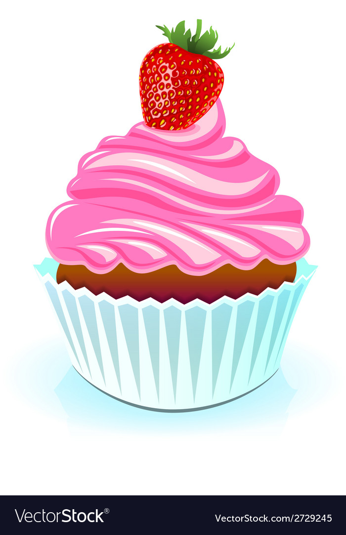 Happy birthday cake sweet birthday vector | Price: 1 Credit (USD $1)