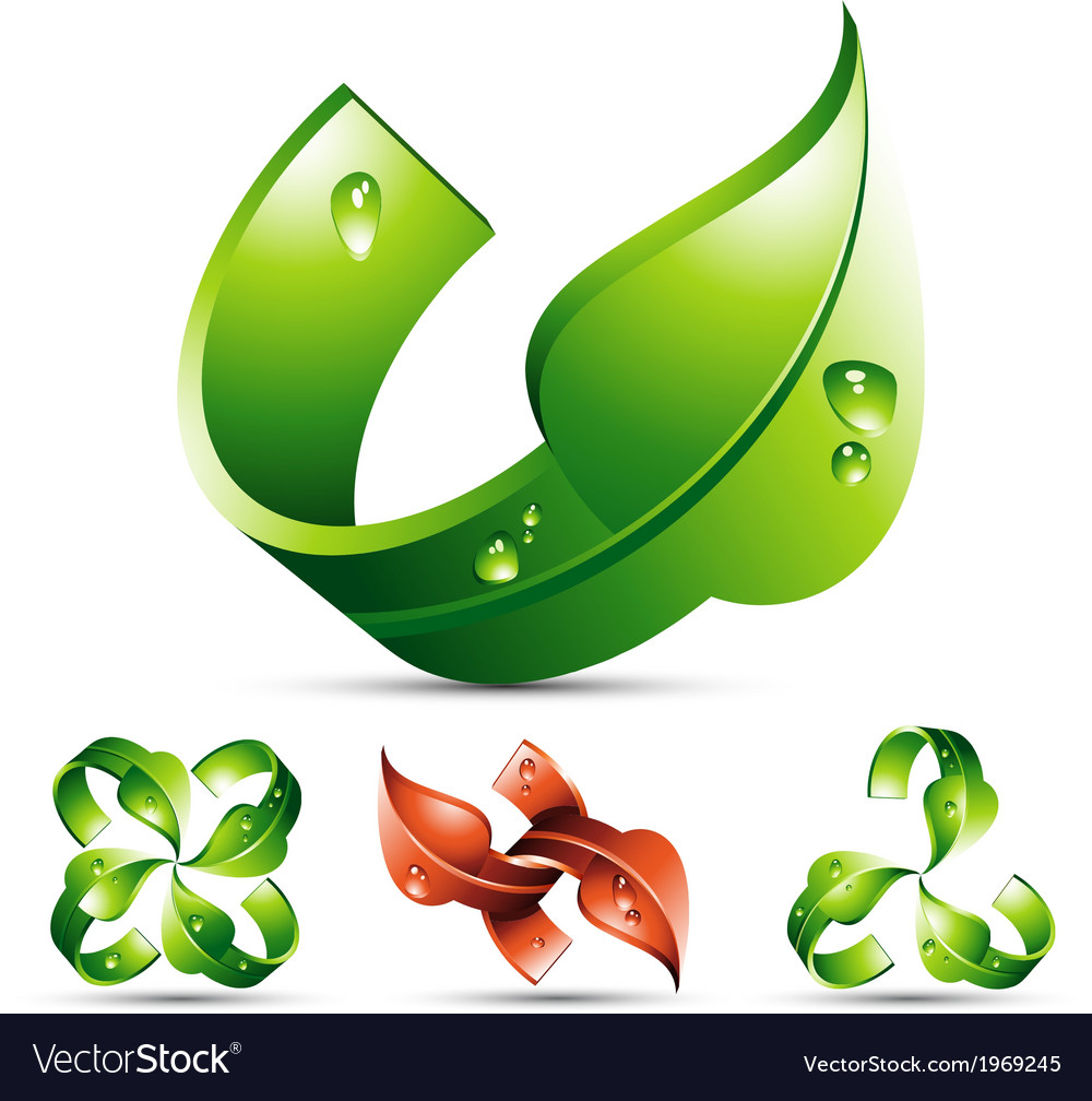 Leaf design element vector | Price: 1 Credit (USD $1)