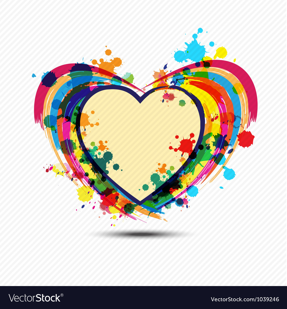 Artistic heart paint design vector | Price: 1 Credit (USD $1)