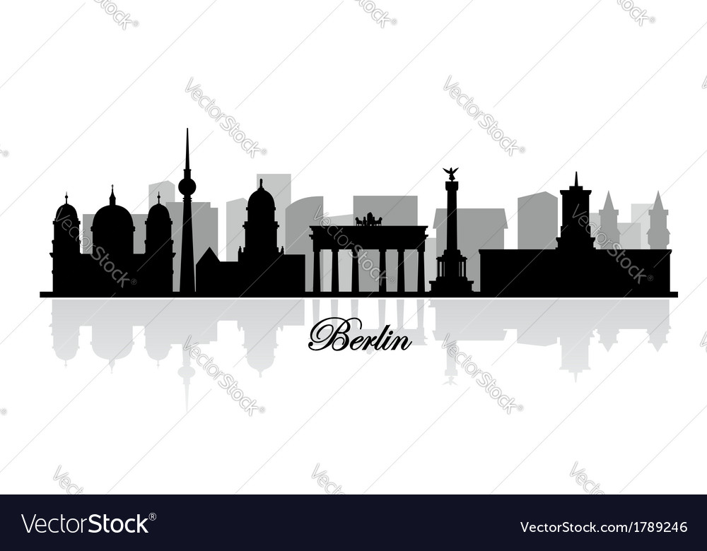 Berlin skyline silhouette vector | Price: 1 Credit (USD $1)