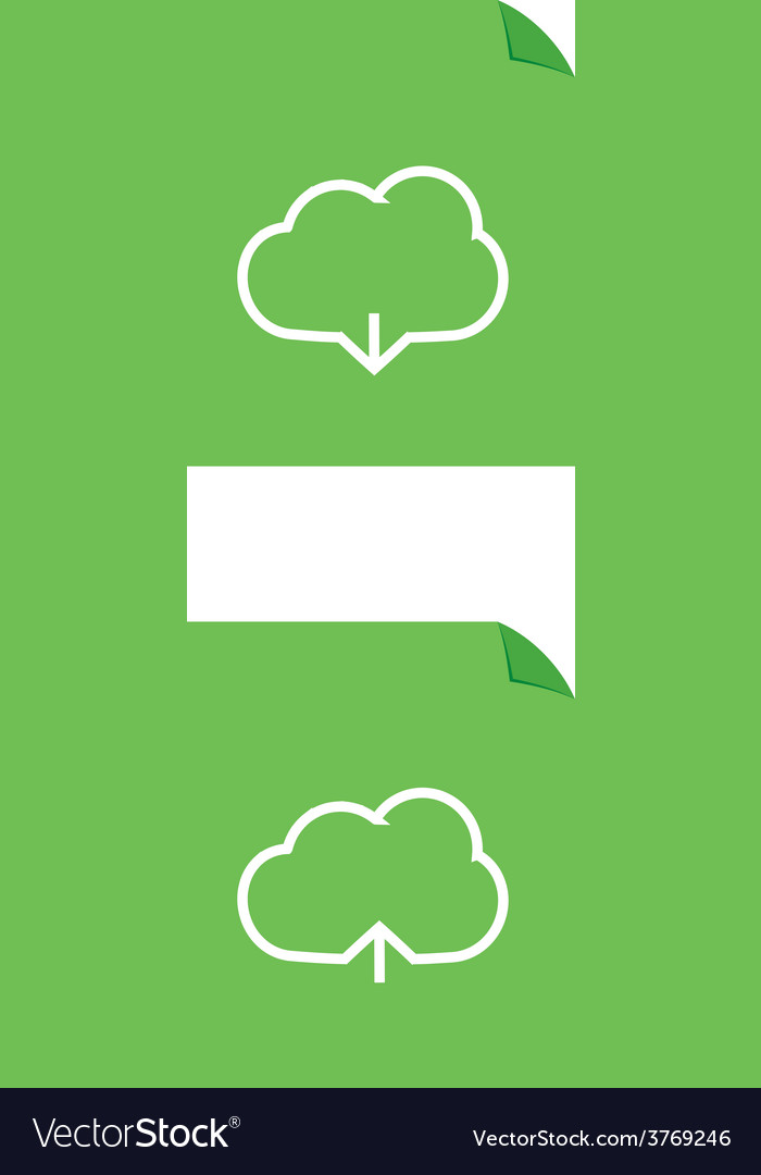 Cloud download and upload icon 25 vector | Price: 1 Credit (USD $1)