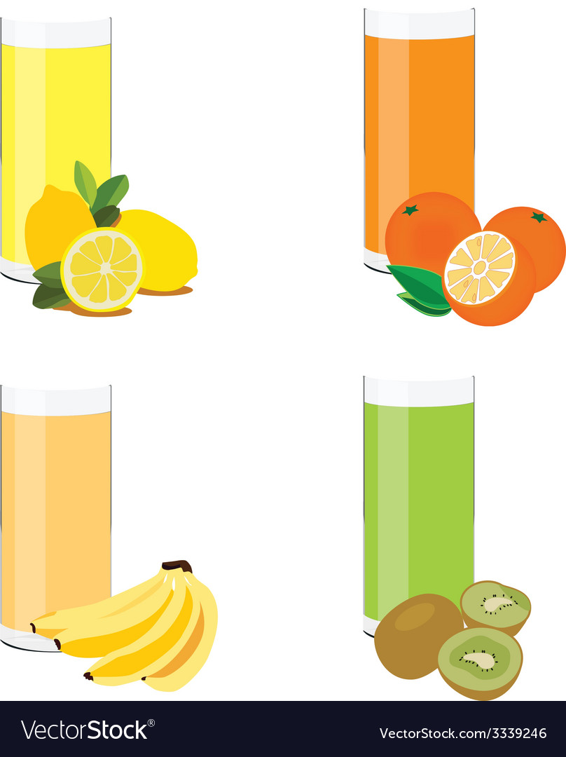 Juice set vector | Price: 1 Credit (USD $1)