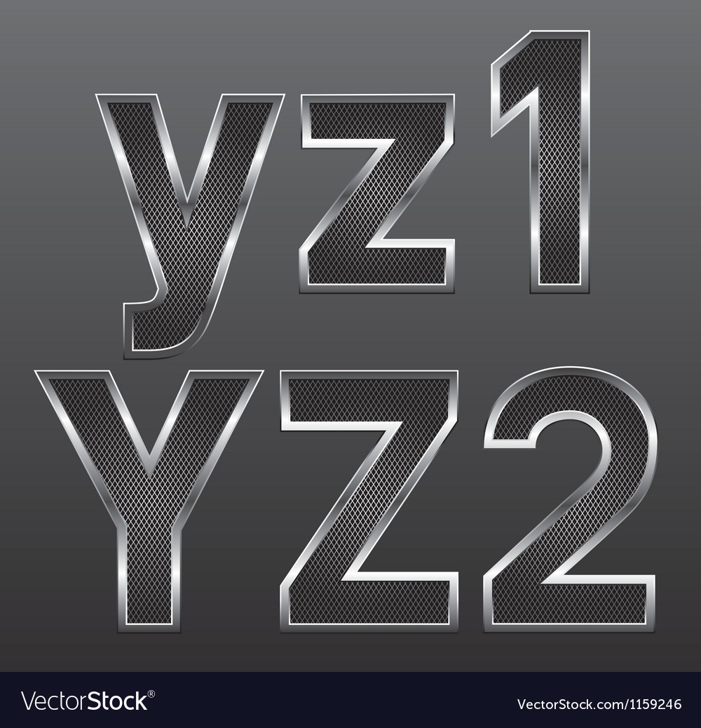 Metal letters big and small 09 vector | Price: 1 Credit (USD $1)