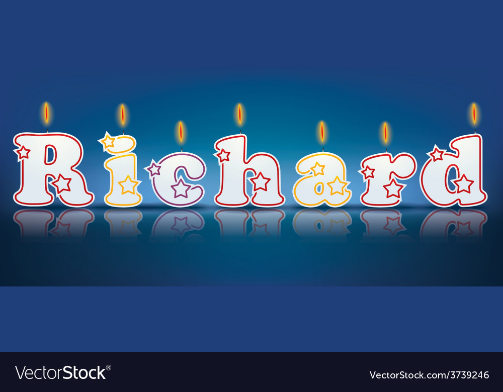 Richard written with burning candles vector | Price: 1 Credit (USD $1)