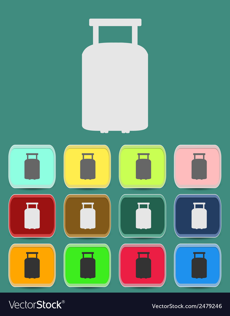 Suitcase for travel icon vector | Price: 1 Credit (USD $1)