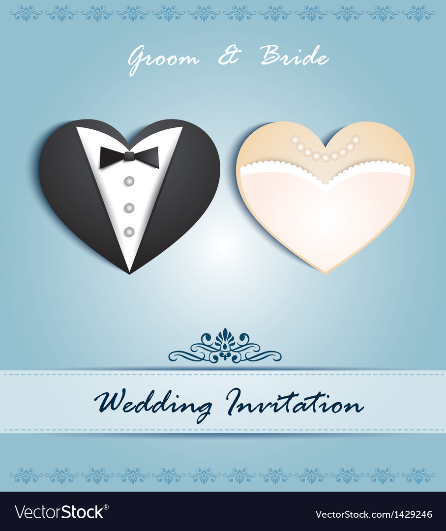 Wedding card in the form of heart vector | Price: 1 Credit (USD $1)