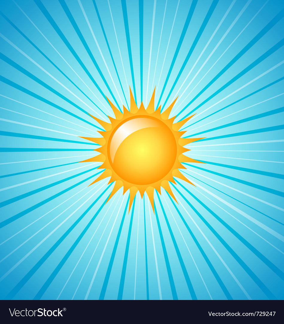 Big shining summer sun vector | Price: 1 Credit (USD $1)