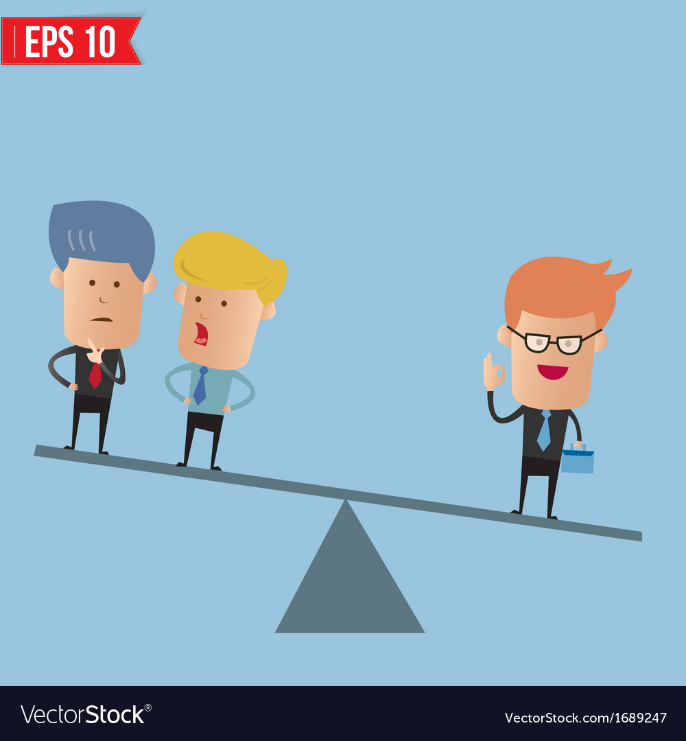 Business weighs more than 2 guys - - eps10 vector | Price: 1 Credit (USD $1)