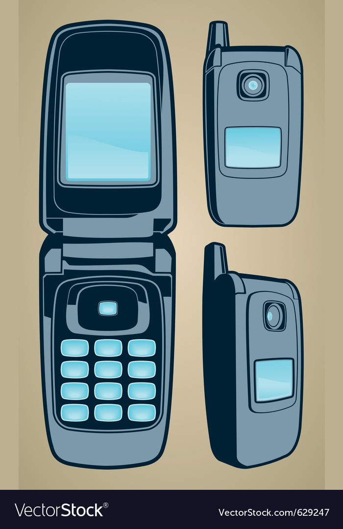 Color cellphone set vector | Price: 1 Credit (USD $1)