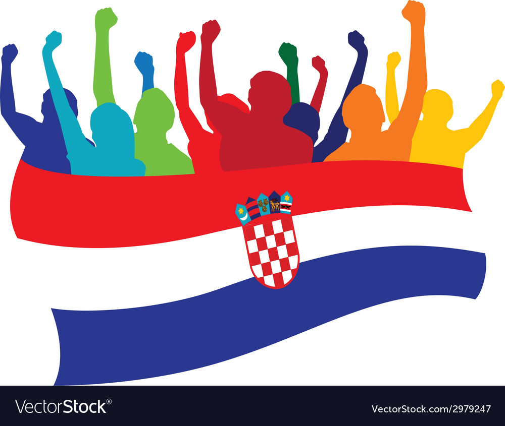Croatia fans vector | Price: 1 Credit (USD $1)