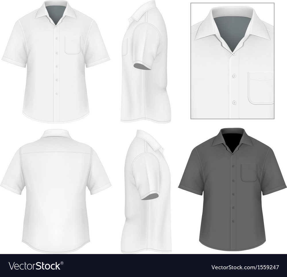 Mens button down shirt design template vector | Price: 1 Credit (USD $1)