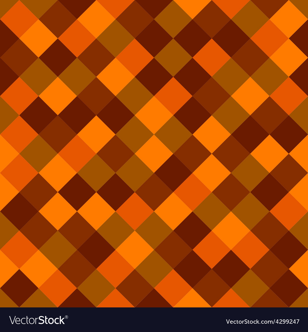 Orange and red colored squares seamless background vector | Price: 1 Credit (USD $1)