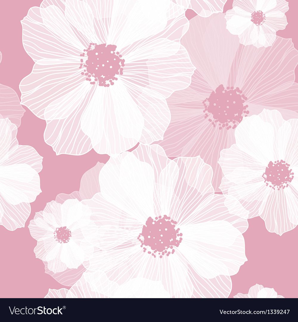 Romantic flower background vector | Price: 1 Credit (USD $1)