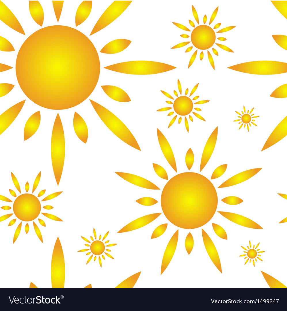 Seamless pattern with sun vector | Price: 1 Credit (USD $1)