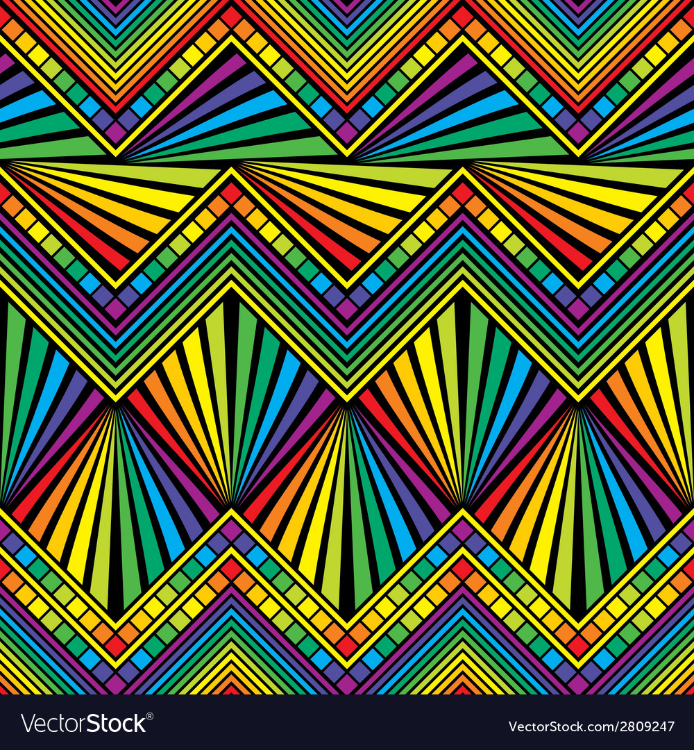 Seamless rainbow color vector | Price: 1 Credit (USD $1)