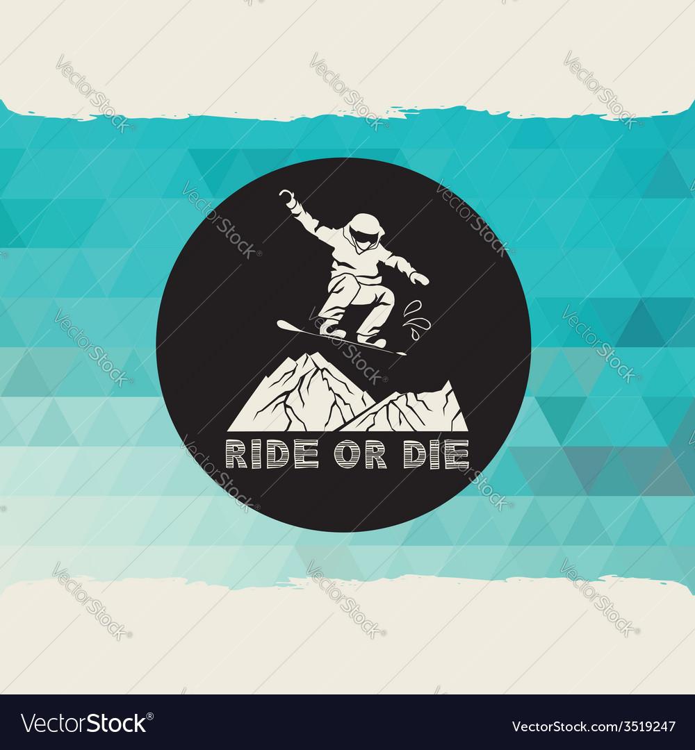Snowboard icon design vector | Price: 1 Credit (USD $1)