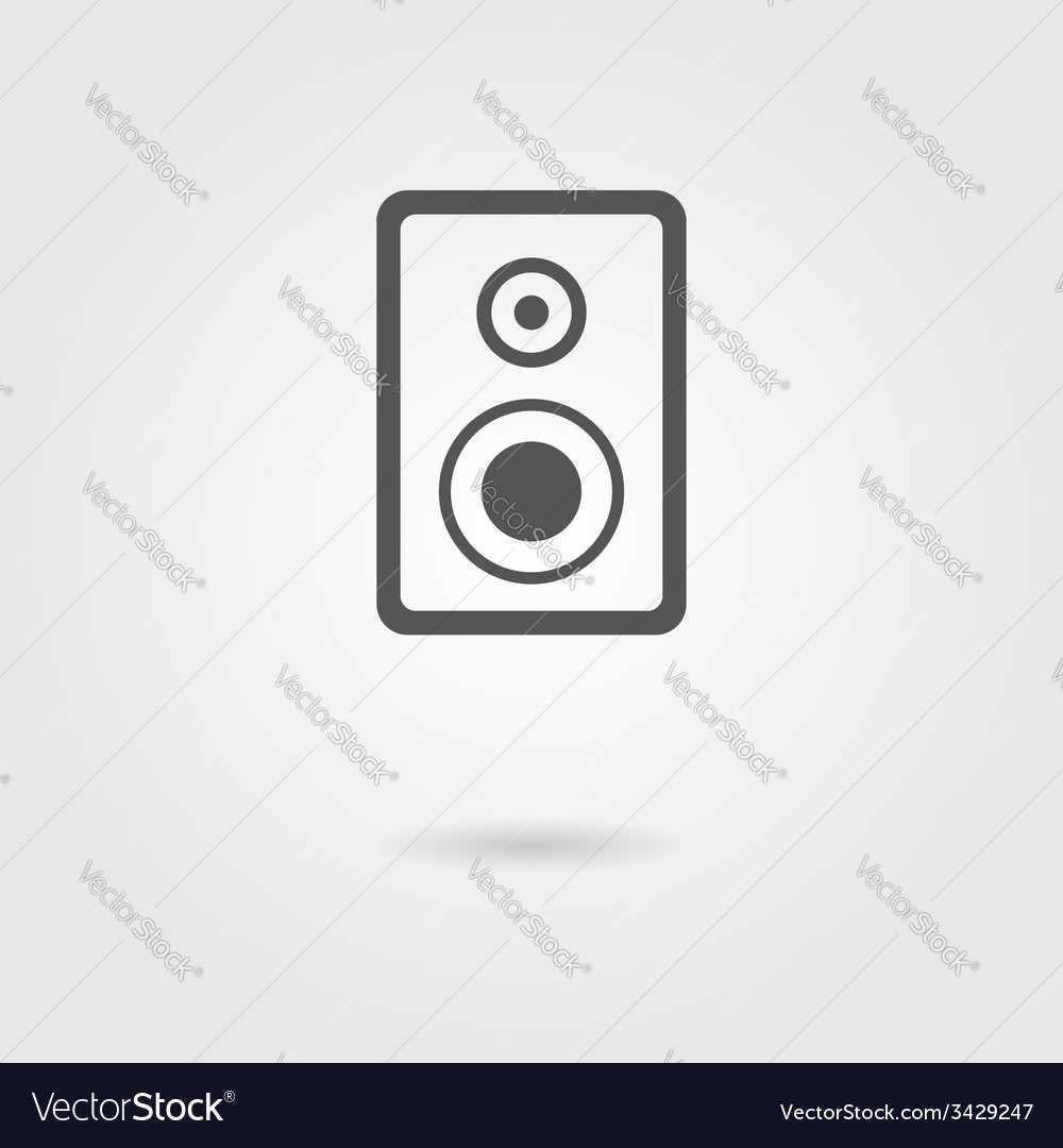 Speaker icon with shadow vector | Price: 1 Credit (USD $1)