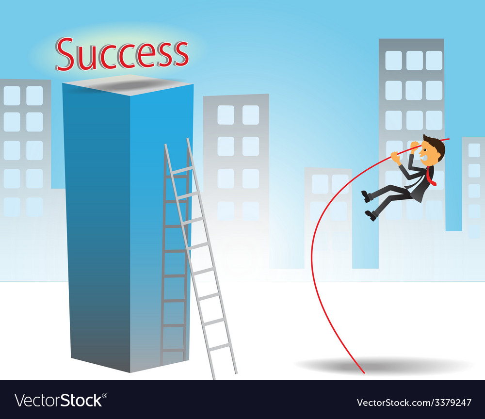Success jumping vector | Price: 1 Credit (USD $1)