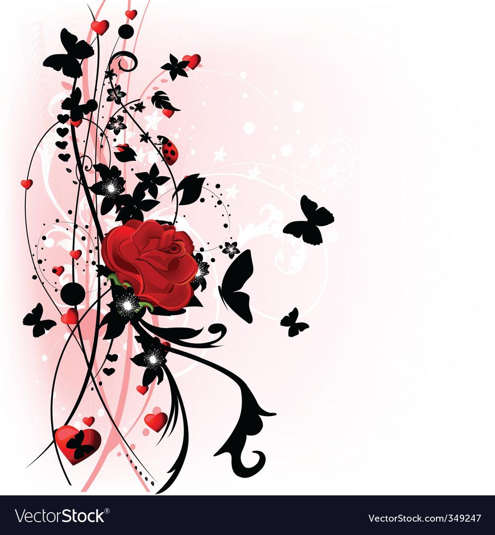 Valentine day rose vector | Price: 1 Credit (USD $1)