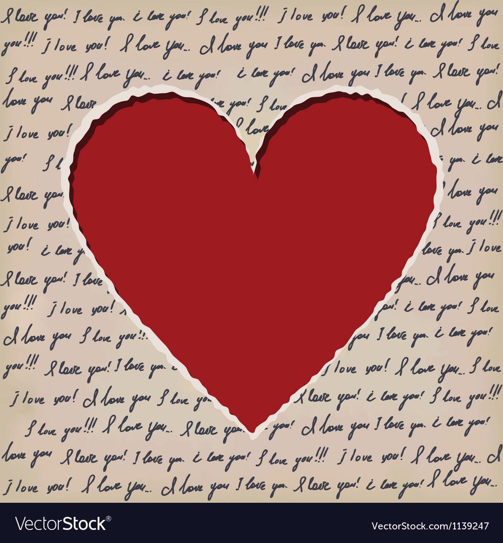Valentines scrapbooking card vector | Price: 1 Credit (USD $1)
