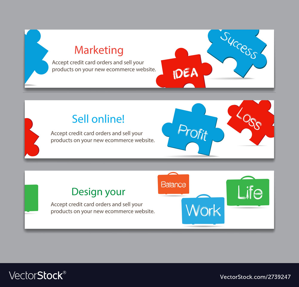 Works and success life on keyboard banner vector | Price: 1 Credit (USD $1)
