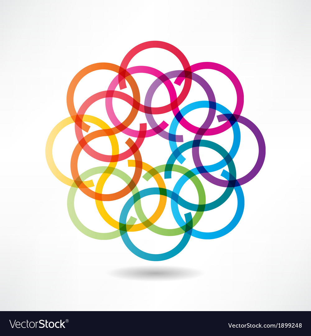 Abstract multicolored circles icon vector | Price: 1 Credit (USD $1)