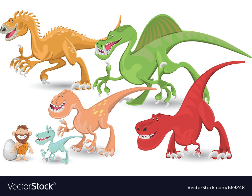 Carnivorous dinosaurs collection set vector | Price: 5 Credit (USD $5)