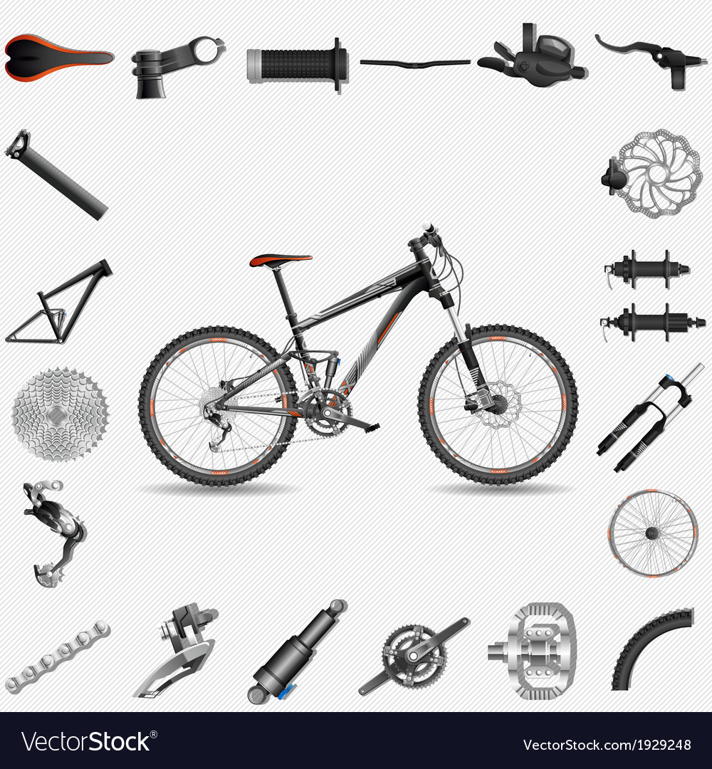 Full suspension mtb vector | Price: 1 Credit (USD $1)
