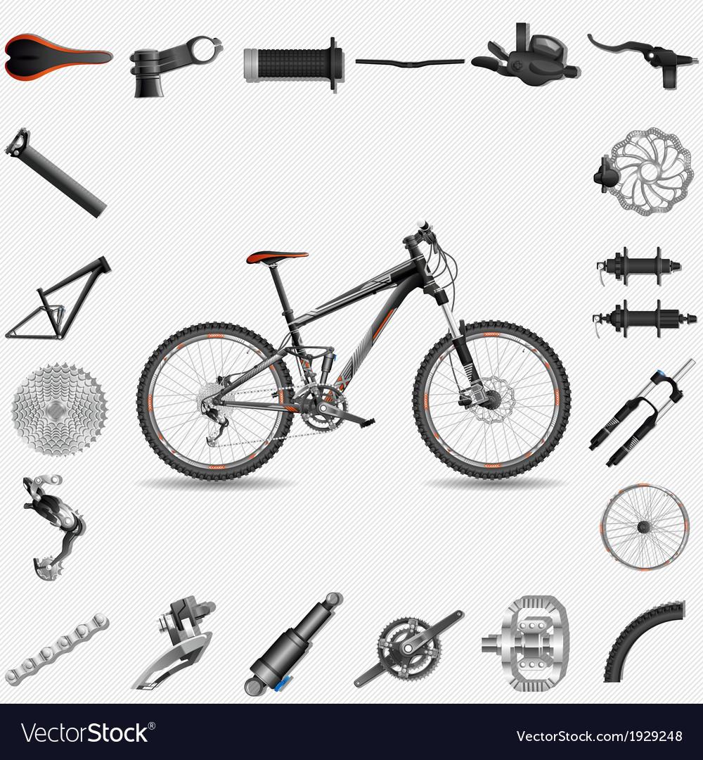 Full suspension mtb vector | Price: 1 Credit (USD $1)