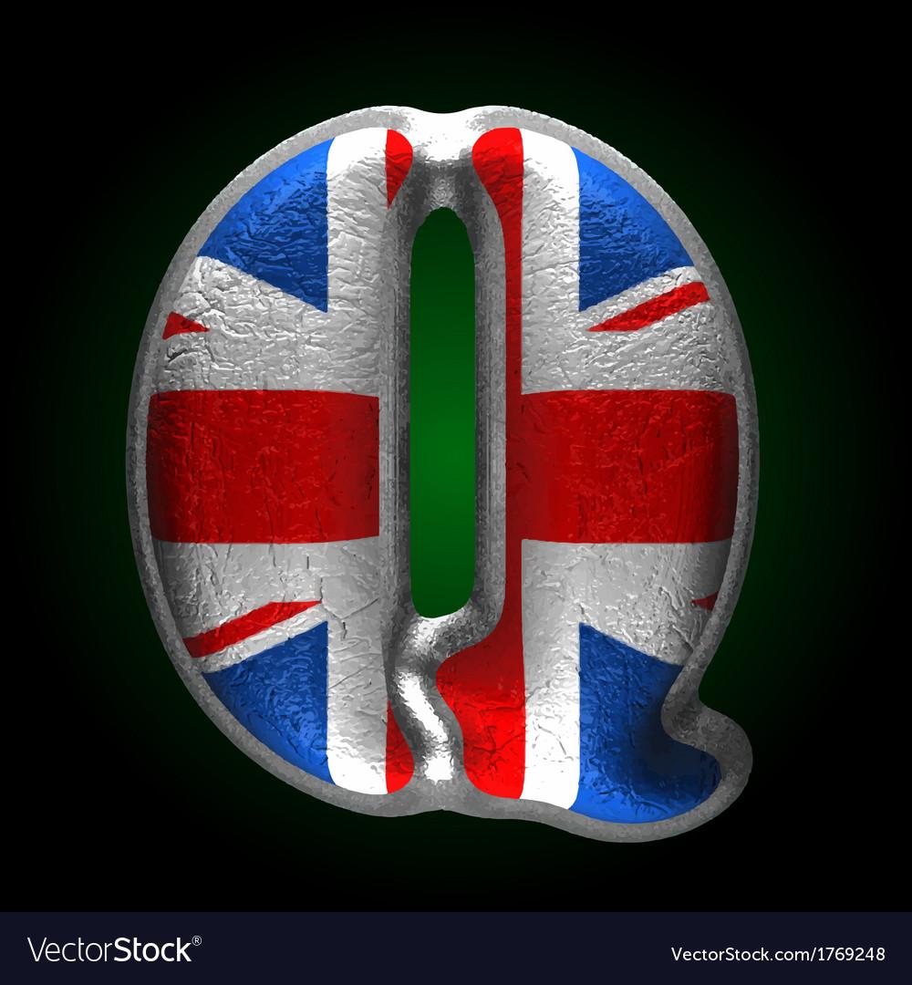 Great britain metal figure q vector   Price: 1 Credit (USD $1)