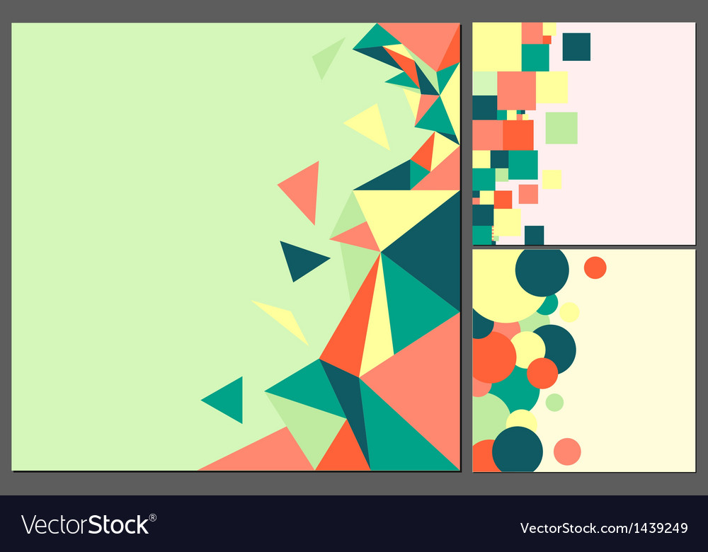 Colorful square backgrounds in old style vector | Price: 1 Credit (USD $1)