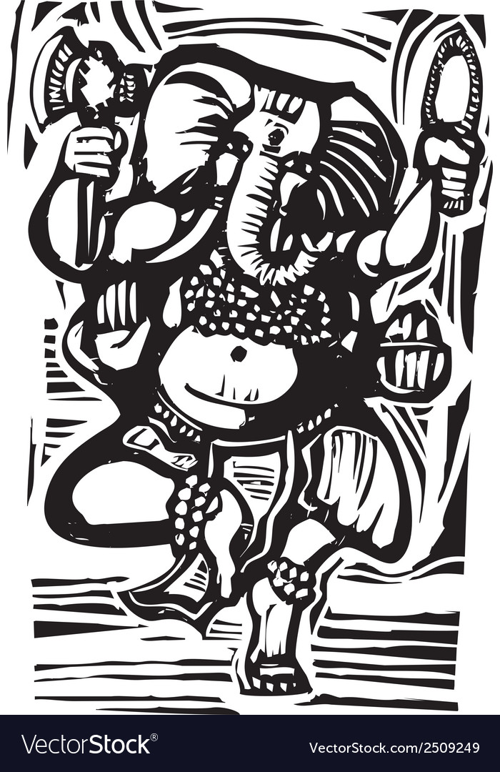 Dancing ganesha vector | Price: 1 Credit (USD $1)