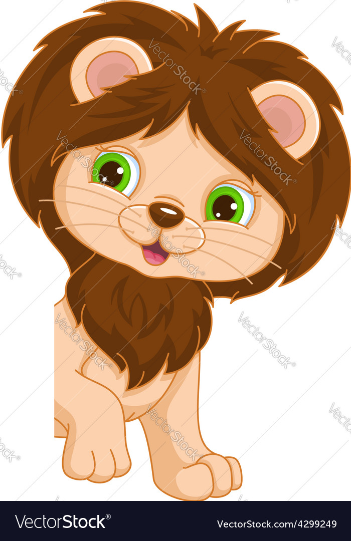 Lion place card vector | Price: 1 Credit (USD $1)