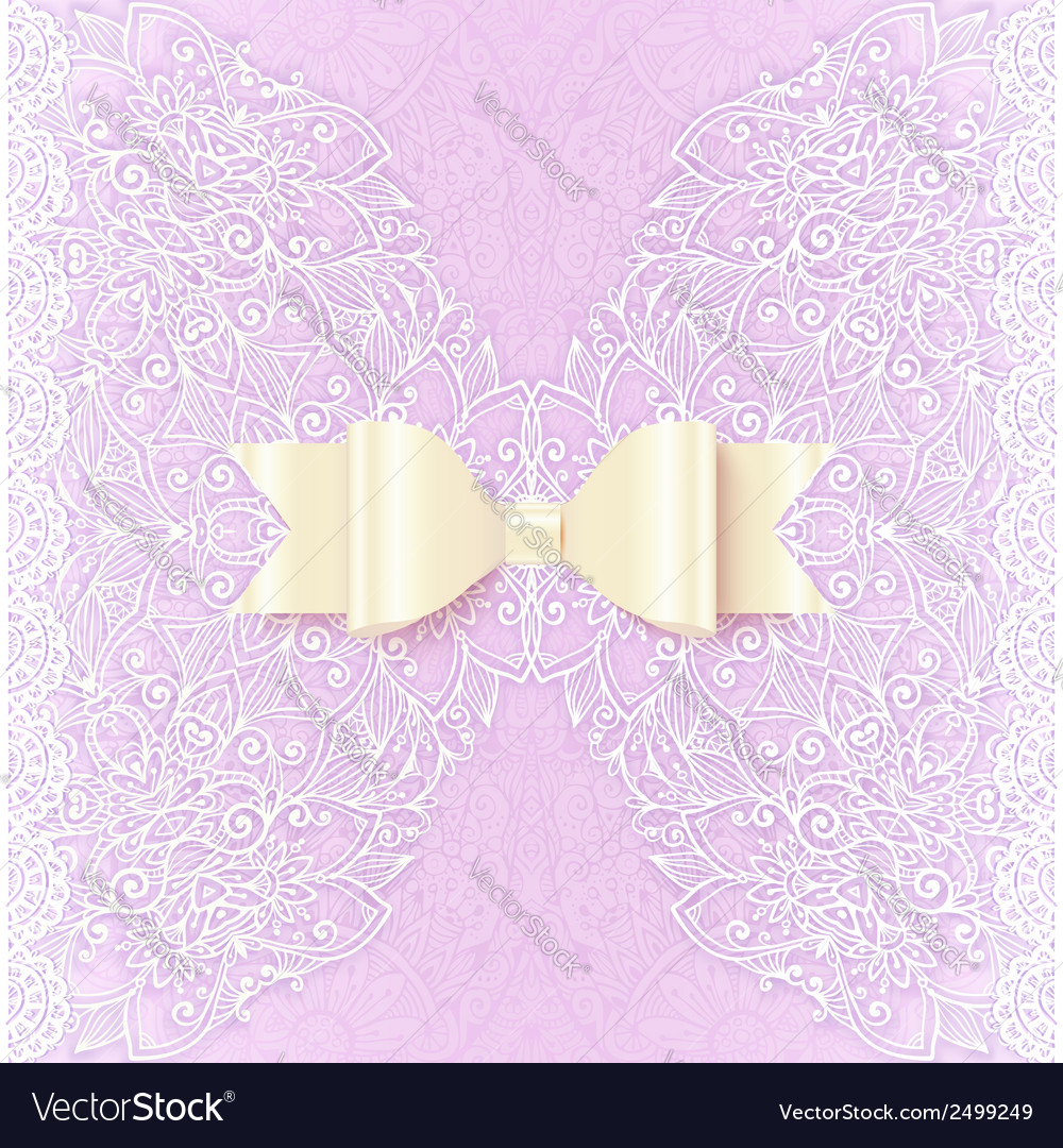 Ornate lacy wedding invitation card cover vector | Price: 1 Credit (USD $1)