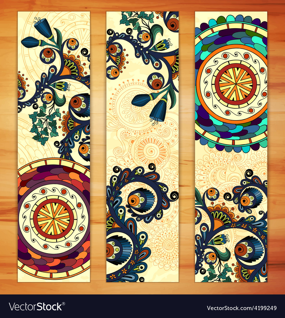 Paisley ethnic batik backgrounds vector | Price: 1 Credit (USD $1)