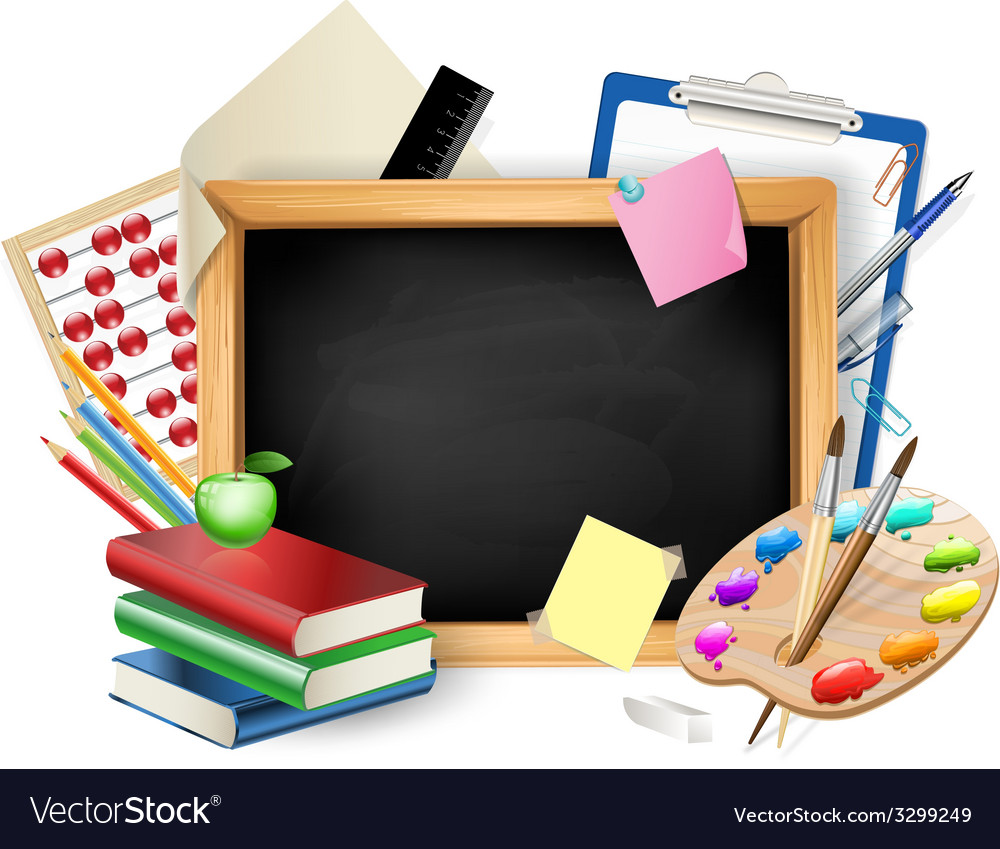 School blackboard background vector | Price: 1 Credit (USD $1)