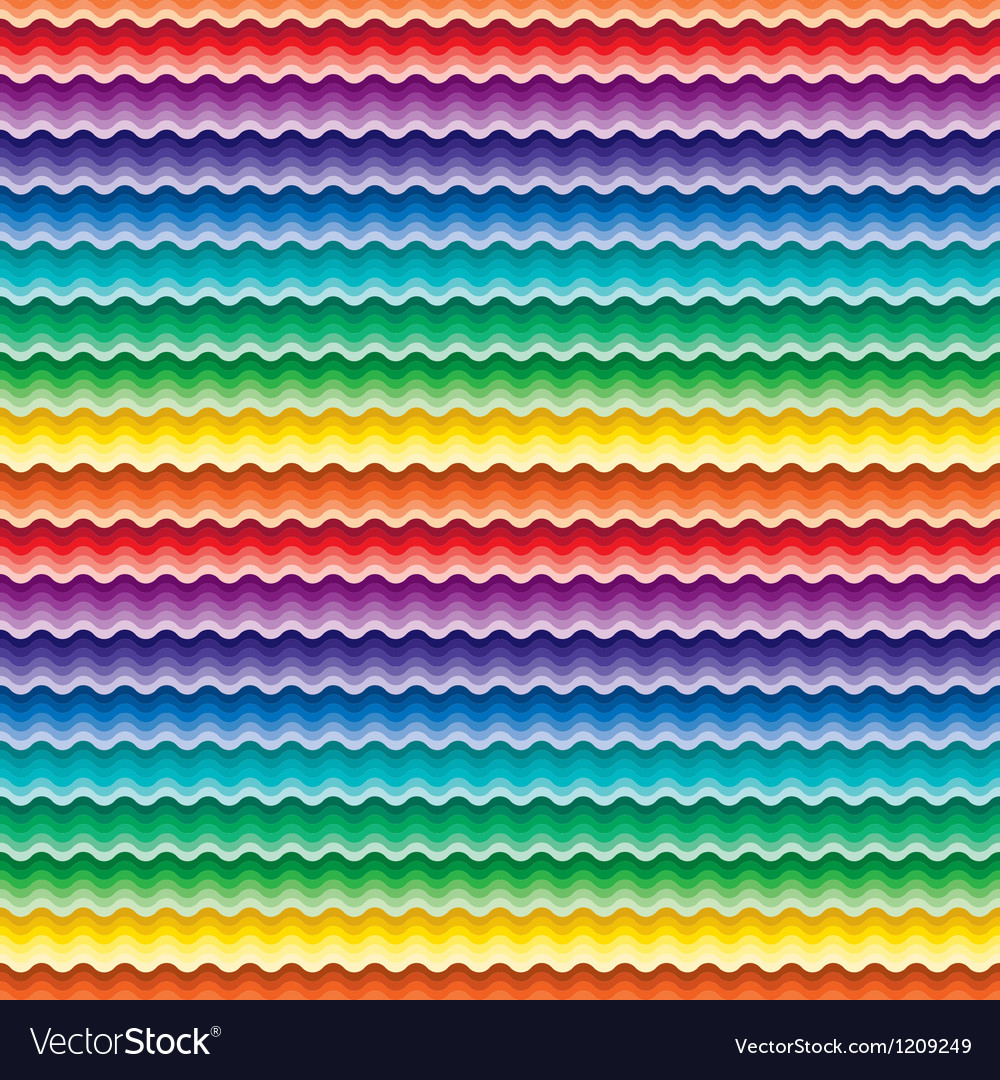Seamless vivid wave pattern vector | Price: 1 Credit (USD $1)