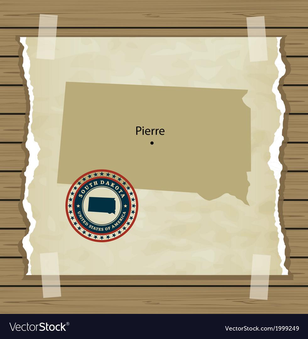 South dakota vector | Price: 1 Credit (USD $1)