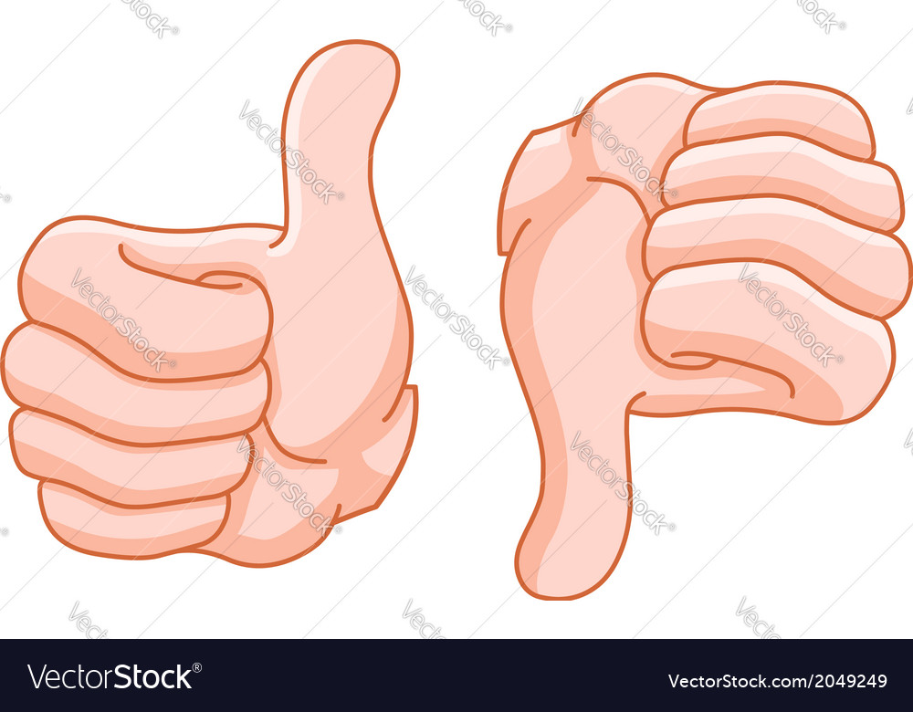 Thumb up and thumb down vector | Price: 1 Credit (USD $1)