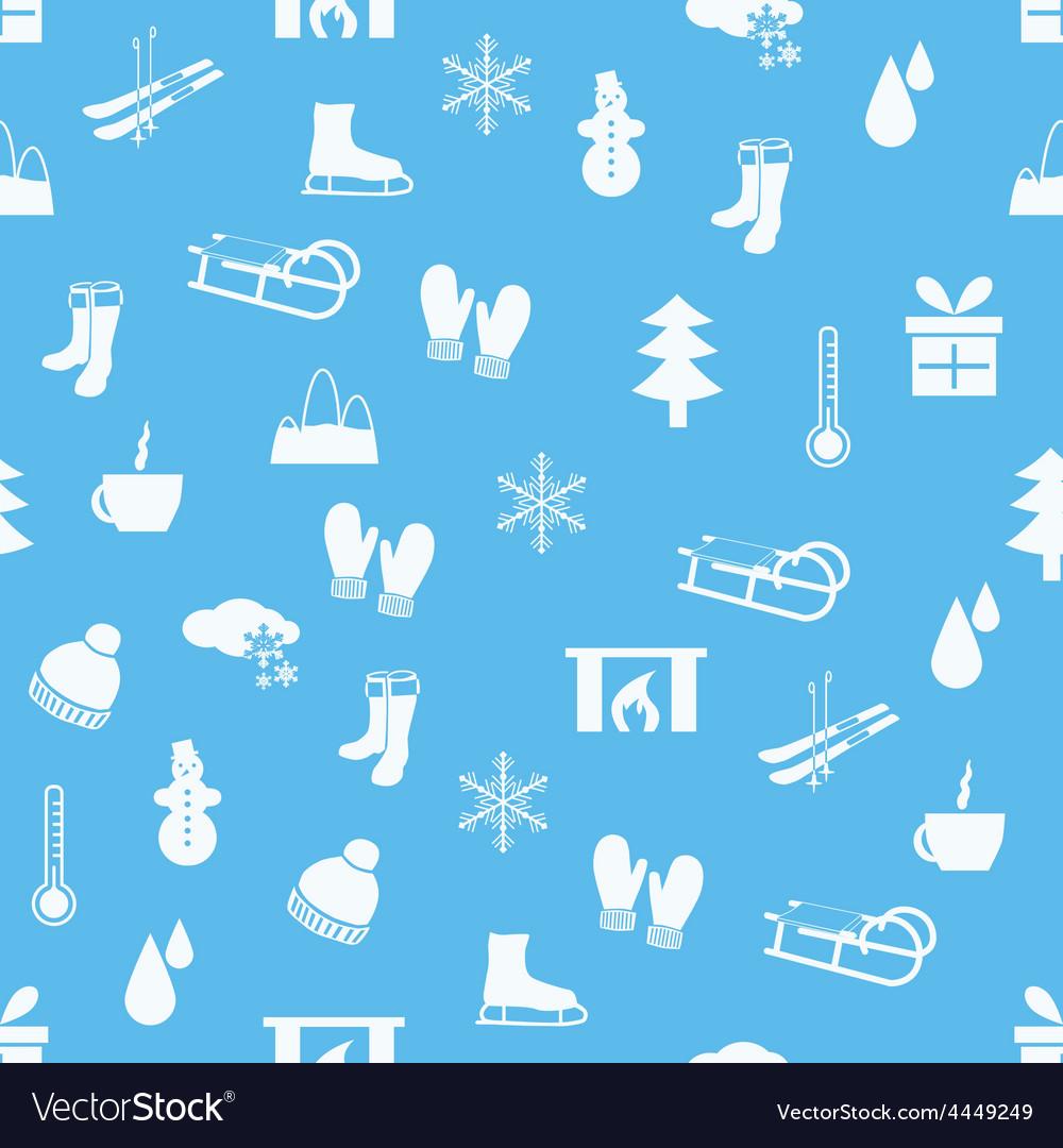 Winter seamless pattern vector | Price: 1 Credit (USD $1)