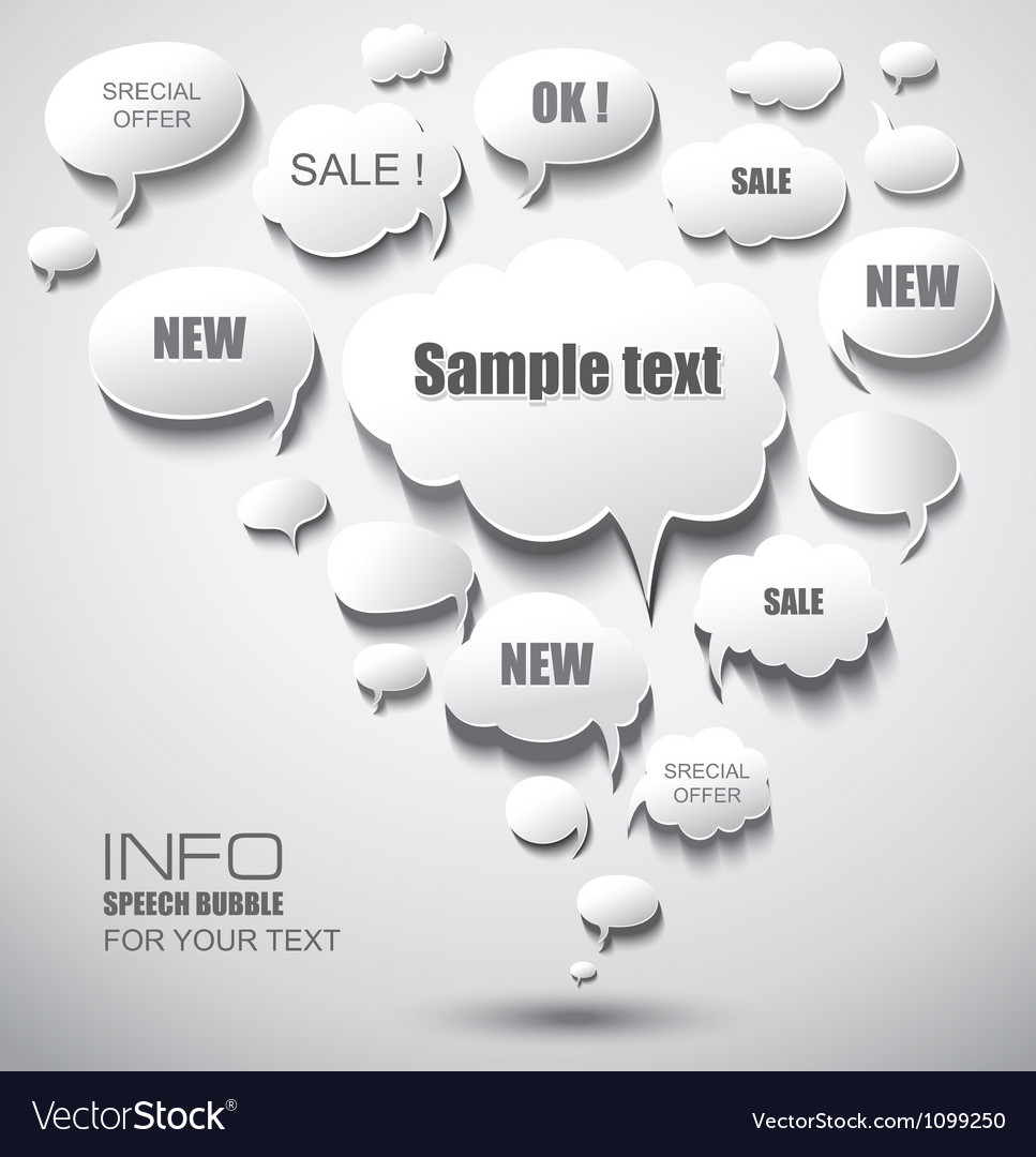 Abstract background with speech bubbles vector   Price: 1 Credit (USD $1)