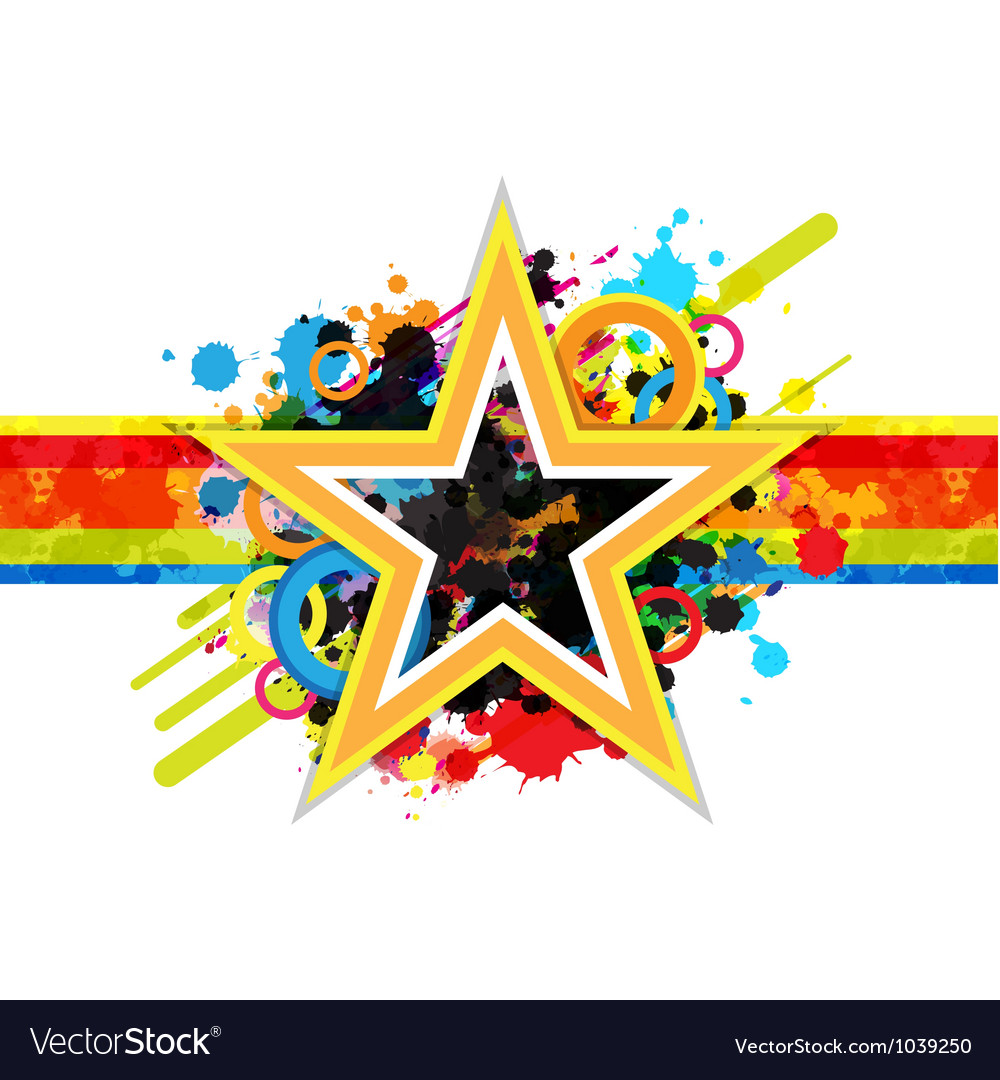 Fantastic star design background vector | Price: 1 Credit (USD $1)