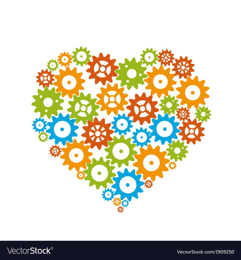 Gear heart vector | Price: 1 Credit (USD $1)