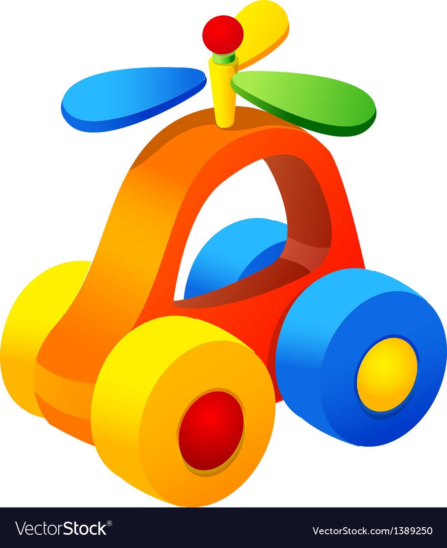 Icon toy car vector | Price: 1 Credit (USD $1)