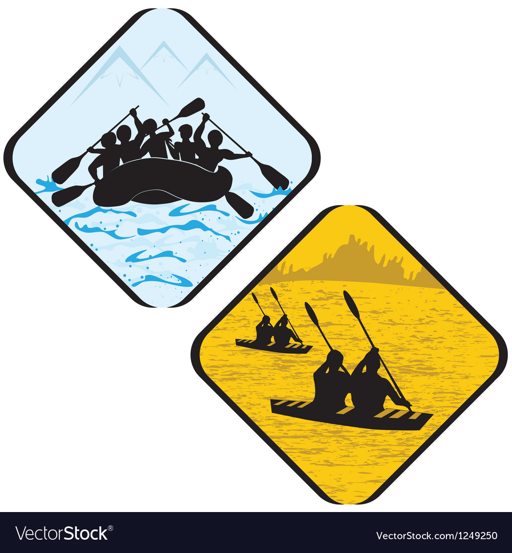 Water sea sport rowing rafting vector | Price: 1 Credit (USD $1)