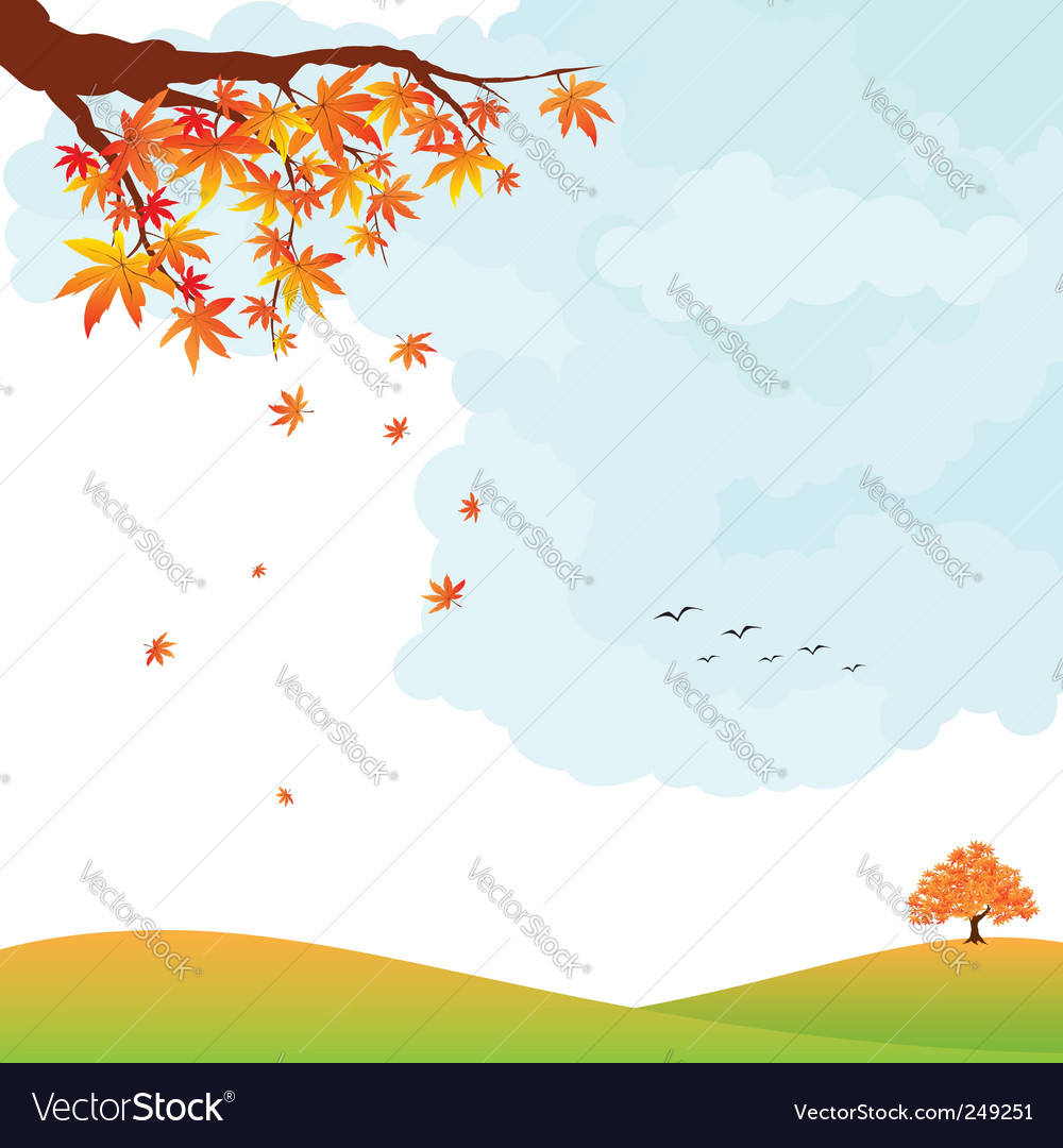 Autumn landscape vector | Price:  Credit (USD $)