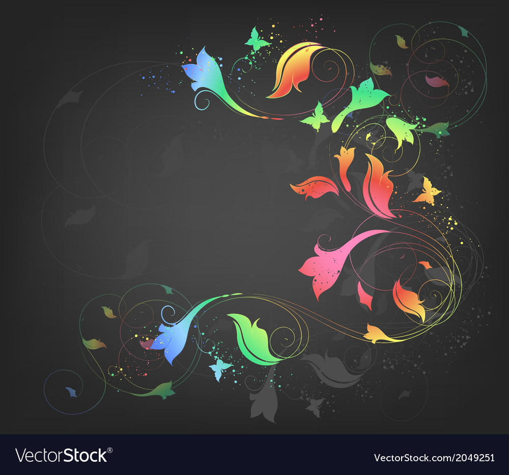 Background with butterflies vector | Price: 1 Credit (USD $1)