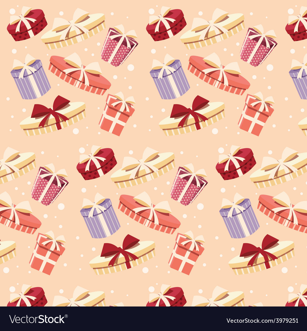 Background with colorful gift boxes seamless vector | Price: 1 Credit (USD $1)