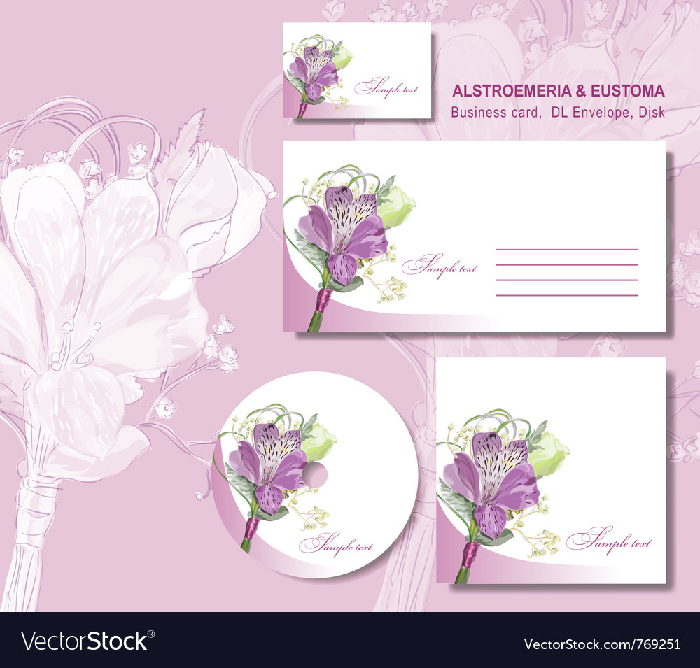 Business card envelope vector | Price: 1 Credit (USD $1)